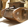 WWI English tank trench art money box. Awesome swiveling guns!