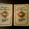 1985 Kansas City Royals pocket schedule