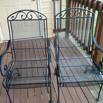 Wrought Iron Deck Chair