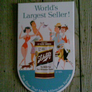 classic late 50's schlitz sign - Breweriana