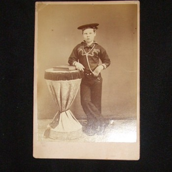 Boy sailor from the USS Kearsarge - Photographs