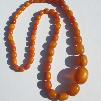 Amber or Copal necklace - Fine Jewelry