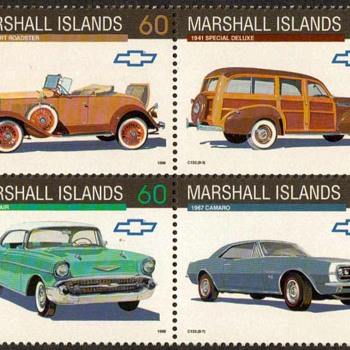 "Marshall Isld's ""Chevrolet"" Postage Stamps - Stamps"