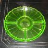 Indiana Glass Vaseline Glass Relish Dish Pattern 232 1930s