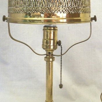Pairpoint pierced metal lamp - Lamps