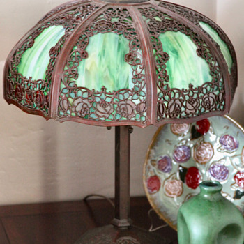 My Handel Teroca Rambling Rose Lamp