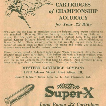 1932 Western Cartridges Advertisement