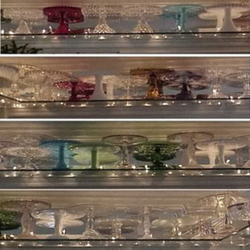 Part of my cake stand collection - Glassware