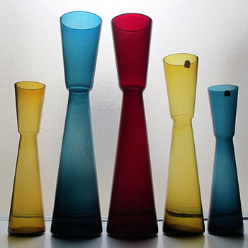 Blomglas Vases designed by Fabian Lundqvist for Alsterfors 1962