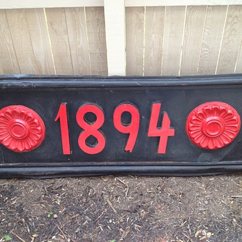 &quot;1894&quot; metal sign