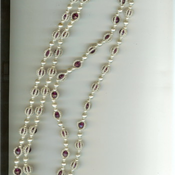 Vintage Opera Length Plastic Bead Necklace