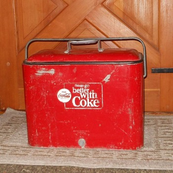 Coca-Cola Cooler 1963-1969 things go better with Coke