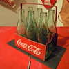 Late 1940's Coca-Cola Six Bottle Carrier, Metal w/Wire Handle