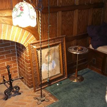 Antique bridge arm floor lamp - Lamps