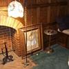 Antique bridge arm floor lamp