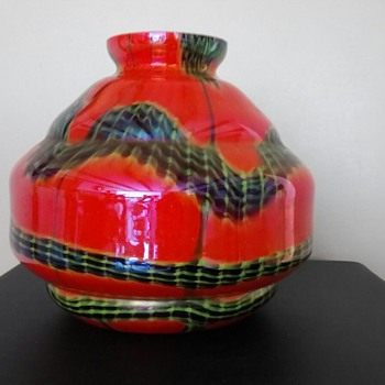 Czechoslovakia Cased glass