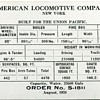 ALCO builder's Cards for the UPRR's Engines 825 & 3902