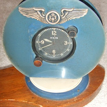 Early Army Air Corps Trench Art Desk clock c. 1942