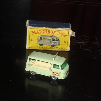 Matchbox Comer Milk Delivery Truck 1962 D Style Box