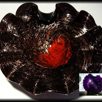 Black Glass ?? ....... or Really just Black AMETHYST - Art Glass