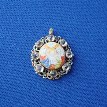 Rock Crystal Religious Pendant