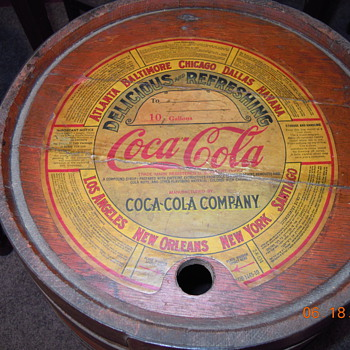1930&#039;s Coca-Cola Wood Syrup Keg, Paper Label, Ten Gallon - Coca-Cola