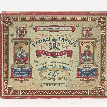 Kyriazi Frères Cigarette Tin (Egypt), Early 20th Century