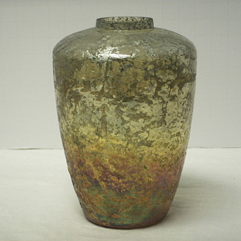 "Mystery Vase""HELP""03415 - Art Glass"