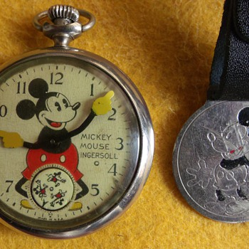 First Issue Mickey Mouse Pocket Watch - Pocket Watches