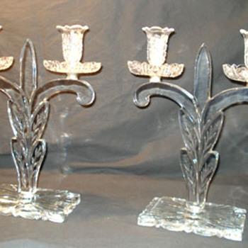 Steuben Candleholders - Art Glass