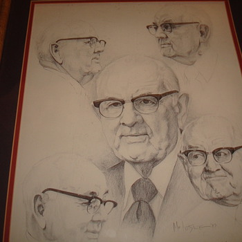 Signed Sketch/Drawing/Portrait  - Visual Art