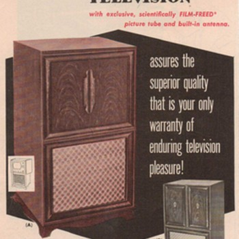 1950 - Starrett Televisions Advertisement - Advertising