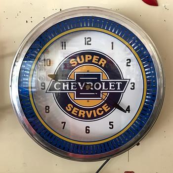 Chevrolet service dept clock