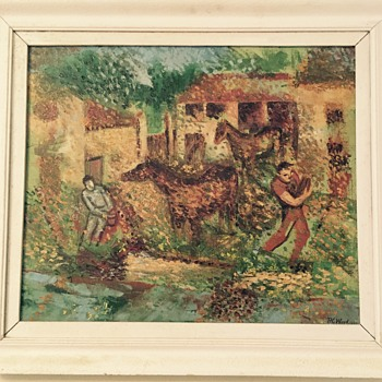 Oil painting signed R.C.Wood 1956  - Visual Art