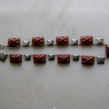 Pressed glass necklace