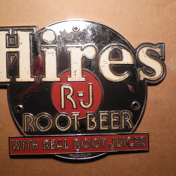 Vintage metal Hires R-J Root Beer sign - Signs