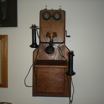 Unusual  Kellogg Wooden Wall Phone