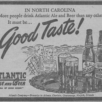 1945 - Atlantic Ale Advertisement - Advertising