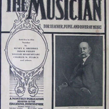 "June, 1906 issue of ""The Musician"" magazine - Paper"