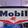 Mobil Oil Pegasus Porcelain Sign With Original Porcelain Bracket