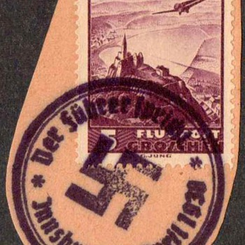 1938 - Austrian Stamp with Nazi Postmark