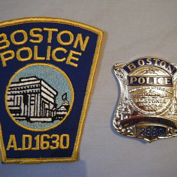 BOSTON PATROLMAN BADGE + PATCH