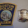 BOSTON PATROLMAN BADGE + PATCH