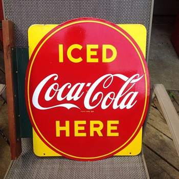 Canadian Coca-Cola Oval Flange Sign
