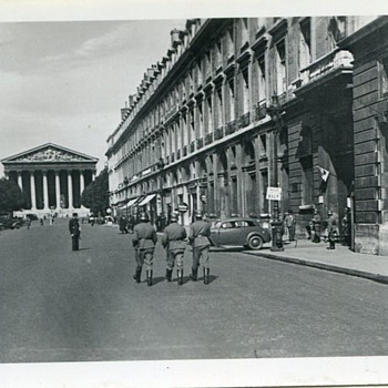 German Army in Paris 1940s