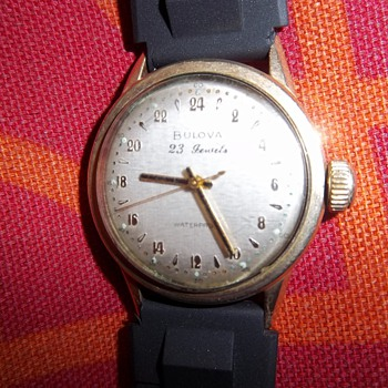 1950 23 jewel 24 hr military time Bulova man&#039;s wrist watch - Wristwatches