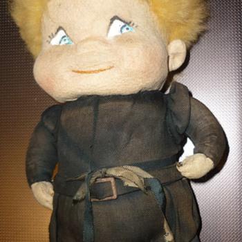 old felt doll