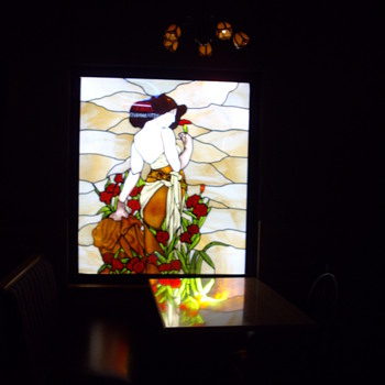 Stained glass windows at my work. - Art Glass