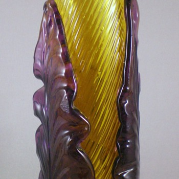 Bohemian Stick Vase. - Art Glass