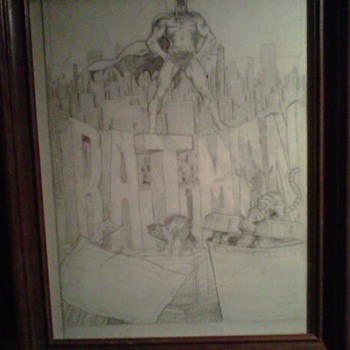 Pat Broderick original Batman art before he was famous